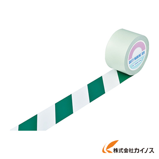 緑十字 ガードテープ(ラインテープ) 白/緑(トラ柄) 75mm幅×20m 148124 【最安値挑戦 激安 通販 おすすめ 人気 価格 安い おしゃれ 】