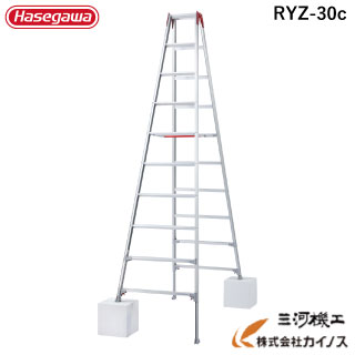 ハセガワ 脚部伸縮式専用脚立 10段 10尺 RYZ型 <RYZ-30b> 【RYZ1.0-30 の後継品 hasegawa 長谷川工業 レッド 赤 脚立】