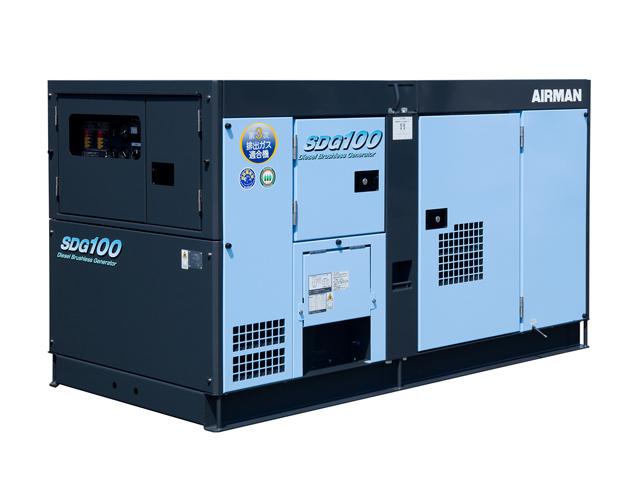北越工業(AIRMAN) エンジン発電機 100kVA <SDG100S-3B1>【インバーター 小型 家庭用  4サイクル 200v 防災グッズ インバータ発電機 風力 エンジン】