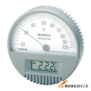 佐藤 湿度計 ハイエスト2型湿度計(温度計付) 7542-00