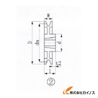 EVN ブッシングプーリー SPB 280mm 溝数1 SPB280-1