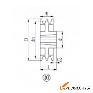 EVN ブッシングプーリー SPZ 315mm 溝数2 SPZ315-2