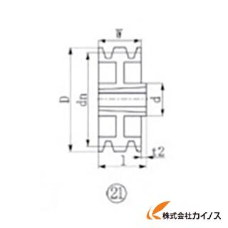 EVN ブッシングプーリー SPZ 315mm 溝数3 SPZ315-3