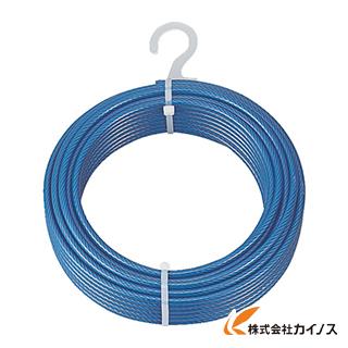 生産加工用品 建築金物 ワイヤロープ TRUSCO メッキ付ワイヤロープ 6 お得なキャンペーンを実施中 PVC被覆タイプ mmX100m CWP-4S100 特価キャンペーン Φ4