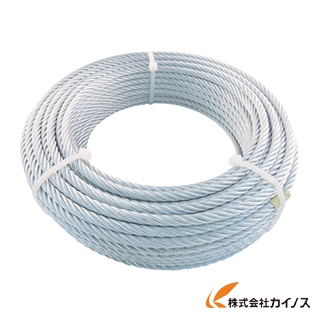 TRUSCO JIS規格品メッキ付ワイヤロープ (6X24)Φ9mmX50m JWM-9S50