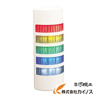 パトライト ウォールマウント薄型LED壁面 WEP-502-RYGBC