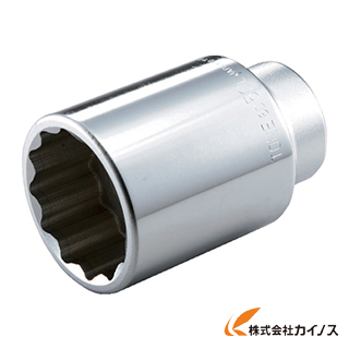 作業用品 ソケットレンチ ソケット TONE 12角 高い素材 6D-55L 25%OFF 55mm ディープソケット