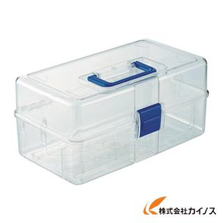 作業用品 工具箱 ツールバッグ 樹脂製工具箱 TRUSCO 中皿なし フリータイプ TCRBOXF 直送商品 日本全国 送料無料 透明工具箱