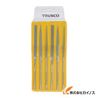 TRUSCO ダイヤモンドニードルヤスリ 平・半丸・丸 6本組セット TNFS1
