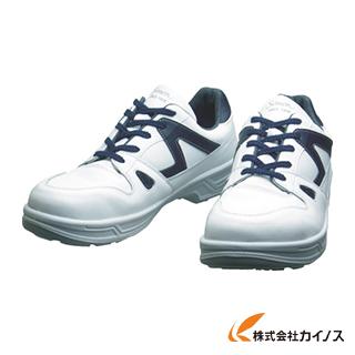 シモン 安全靴 短靴 8611白/ブルー 27.0cm 8611WB-27.0