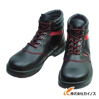 シモン 安全靴 編上靴 SL22-R黒/赤 25.5cm SL22R-25.5