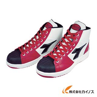 ディアドラ DIADORA 安全作業靴 エミュー 赤/クロ 24.0cm EM321-240