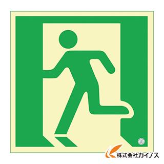 緑十字 高輝度蓄光避難誘導ステッカー標識 非常口 300×300mm 消防認定品 360835
