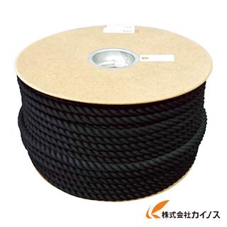 ユタカ ポリエステルロープ ドラム巻 12φ×100m 黒 PRS-61