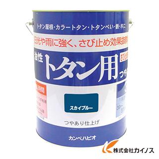 ALESCO カンペ 油性トタン用3Lスカイブルー 130-5993