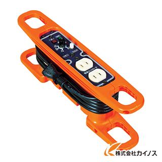 日動 ハンドリール 電流コントロールリール 100V 2芯×3m 黒 HRC-032
