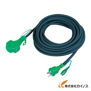日動 スタミナトリプルポッキン延長コード アース付 20m 黒 PPTF-20E