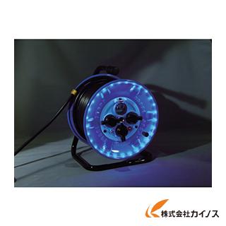 日動 防雨型電工ドラム LEDラインドラム 緑 NPWL-EK33-G