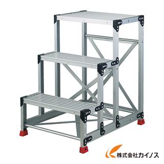 TRUSCO 作業用踏台 アルミ製・高強度タイプ 3段 TSF-369
