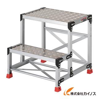 TRUSCO 作業用踏台 アルミ製・縞板タイプ 天板寸法600X400XH600 TSFC-266