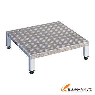 TRUSCO 高床式アルミ製ステップ 600X600XH190~220 TFSH-0660AL
