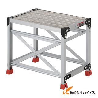 TRUSCO 作業用踏台 アルミ製・縞板タイプ 天板寸法600X400XH500 TSFC-165
