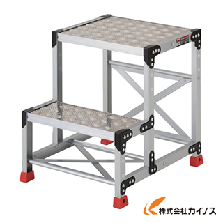TRUSCO 作業用踏台 アルミ製・縞板タイプ 天板寸法500X400XH600 TSFC-256