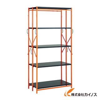 TRUSCO ワンタッチラックW915XD450XH1805 5段 黒Xオレンジ TR-6345-BK