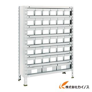 TRUSCO 軽量棚 875X300XH1200 樹脂引出NG 小X36大X3 43V-808E6F1 NG