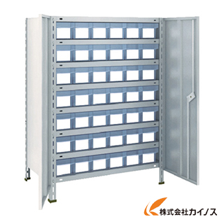 TRUSCO 軽量棚扉付 875X533XH1200 樹脂引出透明 小X42 43X-T808C7 NG