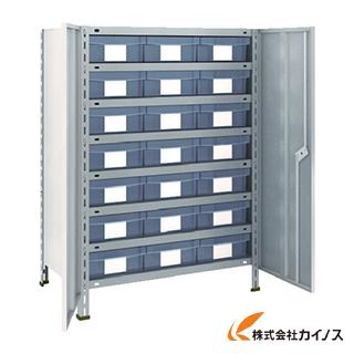 TRUSCO 軽量棚扉付 875X533XH1200 樹脂引出透明 大X21 43X-T808D7 NG