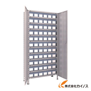 TRUSCO 軽量棚扉付 875X383XH1800 樹脂引出透明 小X66 63V-T812C11 NG