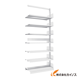 日本に BS-SD73T-7B:三河機工 W900XD220XH2275 連結 B5縦 カイノス 店 7段 複式 TRUSCO 単柱書架-DIY・工具