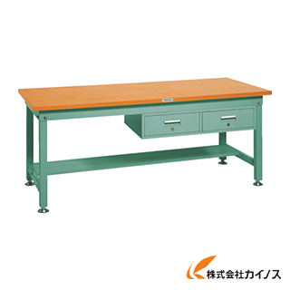 TRUSCO HW型作業台 1800X900XH740 2列引出付 HW-1809FL2 GN