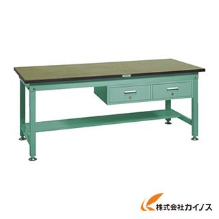 TRUSCO RHW型作業台 1800X900XH740 2列引出付 RHW-1809FL2 GN