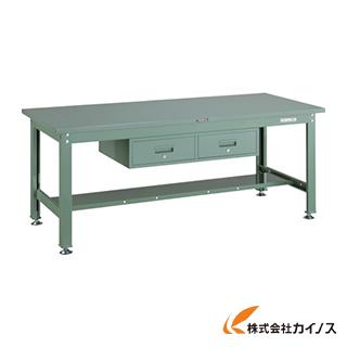TRUSCO SHW型作業台 1800X750XH740 2列引出付 SHW-1800FL2 GN