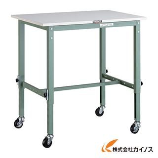 TRUSCO AEM型高さ調節作業台 900X600 φ75キャスター付 AEM-0960C75