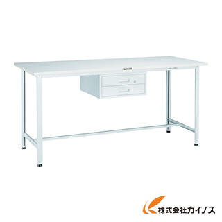 TRUSCO HRAE型作業台 1800X750XH900 2段引出付 W色 HRAE-1800F2
