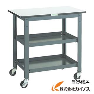TRUSCO WHT型作業台補助テーブルワゴン 600X600XH740 WHT-6060