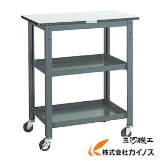 TRUSCO WHT型作業台補助テーブルワゴン 600X600XH900 WHT-6060H