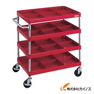 熱販売 R色 カイノス PEW-974S4-R:三河機工 店 750X500 TRUSCO フェニックスワゴン 仕切板付4段-DIY・工具