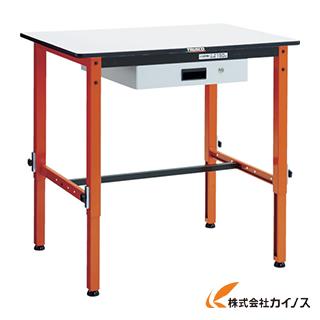 TRUSCO 高さ調整式作業台 TFAEM型 薄型1段引出付 900X600 TFAEM-0960UDK1