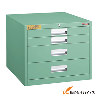 TRUSCO LVE型キャビネット 500X550XH420 引出4段 LVE-424