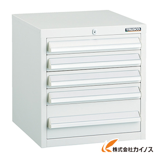 TRUSCO LVR型キャビネット 392X412XH420 引出5段 W LVR-423W