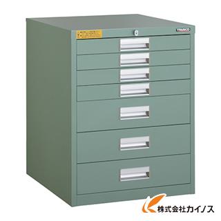 TRUSCO LVE型キャビネット 500X550XH650 引出7段 LVE-657
