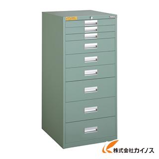 TRUSCO LVE型キャビネット 500X550XH1100 引出9段 LVE-1104