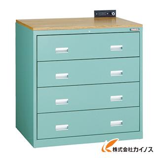 TRUSCO TWK型キャビネット 900X650XH920 4段 GN TWK-904S-GN