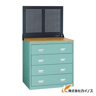 TRUSCO TWK型キャビネット 900X650 4段 Pパネル付 GN TWK-904SP-GN