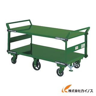 TRUSCO 鋼鉄製運搬車 両袖2段型 1400X750 鋳物6輪車 S付 SOHN-1L2WS