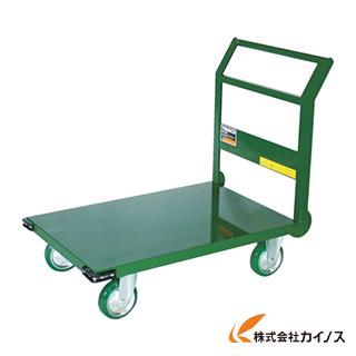 TRUSCO 鋼鉄製運搬車 900X600 Φ150ウレタン車 緑 SH2NU-GN